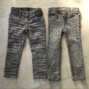 Lot of 4t animal print skinny jeans mini Boden Gap